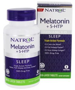 Melatonina + 5 HTP Natrol 60 comp