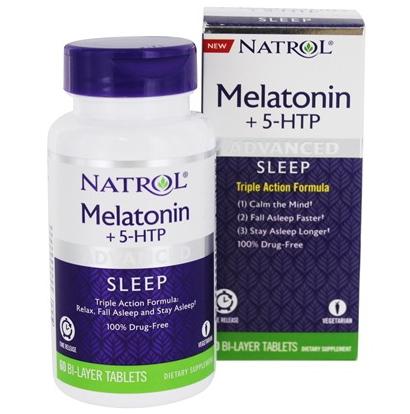 Melatonina + 5 HTP Natrol 60 comp
